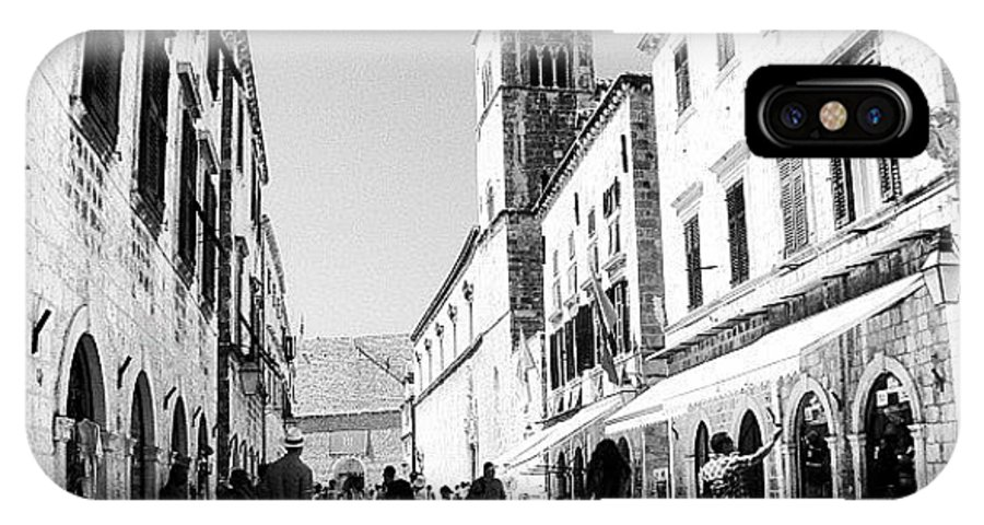 Beautiful IPhone X Case featuring the photograph #dubrovnik #b&w #edit by Alan Khalfin