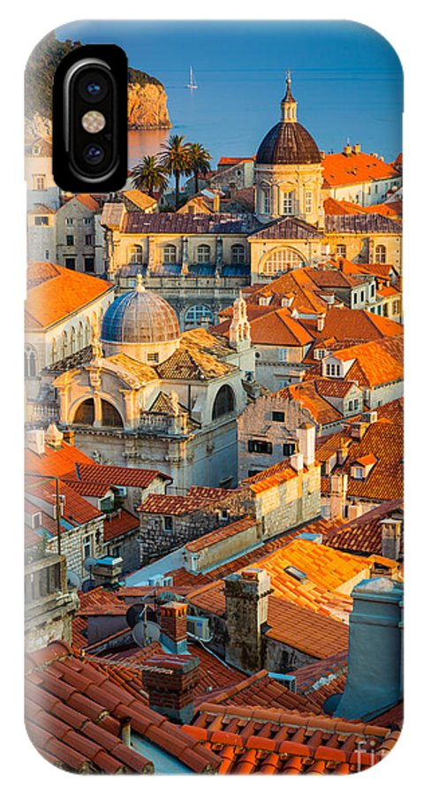 Adriatic IPhone X / XS Case featuring the photograph Dubrovnik Sunset by Inge Johnsson