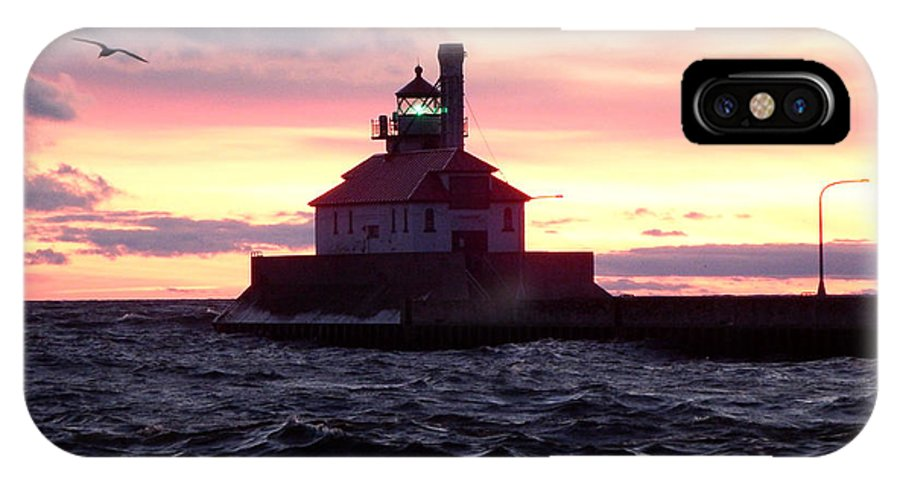 Lake Superior IPhone X Case featuring the photograph Duluth Dreaming by Alison Gimpel