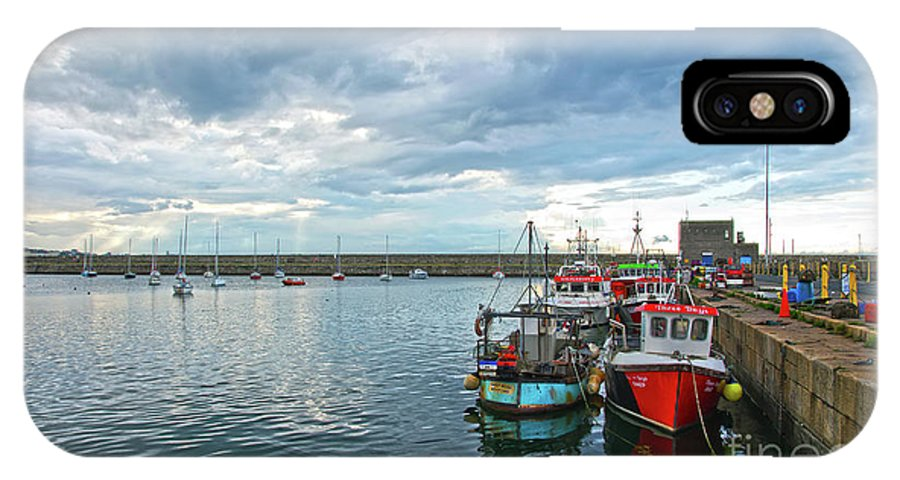 Dun Laoghaire IPhone X Case featuring the photograph Dun Laoghaire 28 by Alex Art and Photo