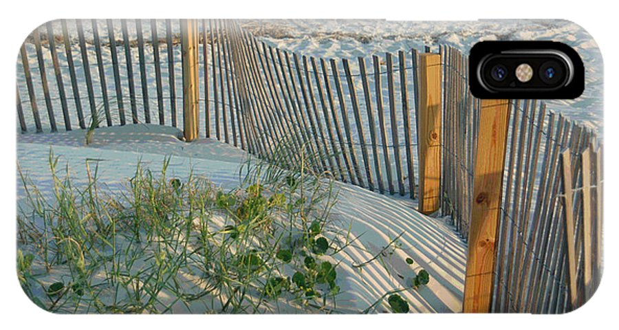 Sea Fence IPhone X Case featuring the photograph Dune Fence by Suzanne Gaff