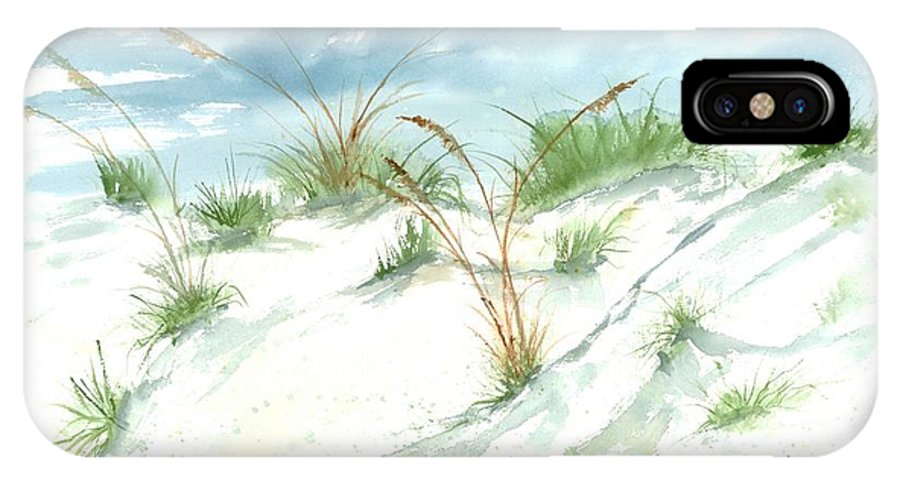 Beach IPhone X / XS Case featuring the painting Dunes 3 Seascape Beach Painting Print by Derek Mccrea