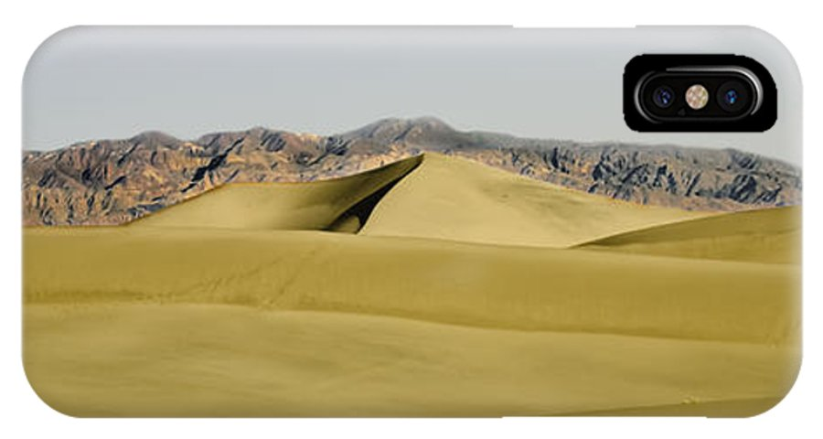 Death Valley IPhone X Case featuring the photograph Dunes And Mountains Four Wider by Paul Basile