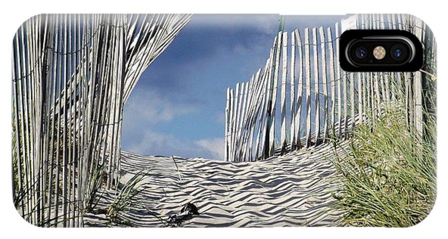 Dunes IPhone X Case featuring the photograph dunes in RI by Agnieszka Adamska