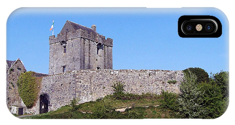 Irish IPhone X Case featuring the photograph Dunguaire Castle Kinvara Ireland by Teresa Mucha