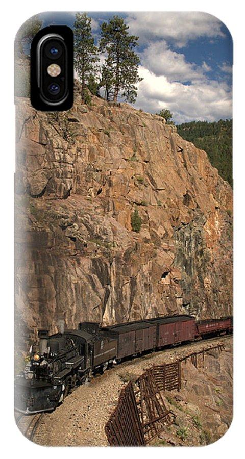 Durango Silverton Railroad IPhone X / XS Case featuring the photograph Durango/silverton Narrow Gauge Railroad by Cynthia Sperko
