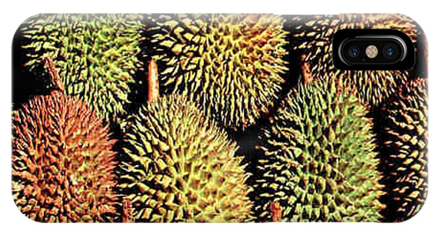 Durian IPhone X Case featuring the photograph Durian by Dragica Micki Fortuna