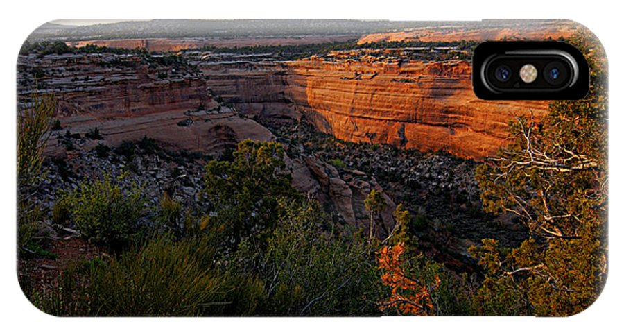 Colorado National Monument IPhone X Case featuring the photograph Dusk At Colorado National Monument by Larry Ricker