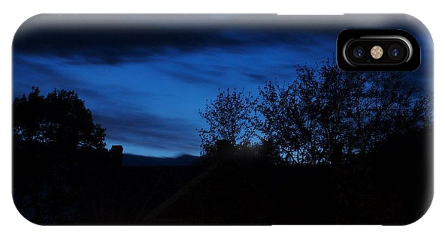 Silhouette IPhone X Case featuring the photograph Dusk by Faith Harron Boudreau