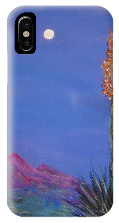 Evening IPhone X Case featuring the painting Dusk by Melinda Etzold
