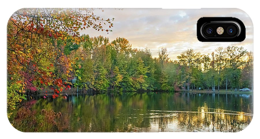 New Jersey IPhone X Case featuring the photograph Dusk On Autumn Lake by Andrew Kazmierski
