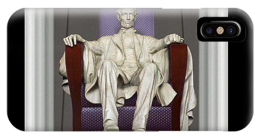 Lincoln Memorial IPhone X Case featuring the photograph Ea-z-chair Lincoln Memorial by Mike McGlothlen