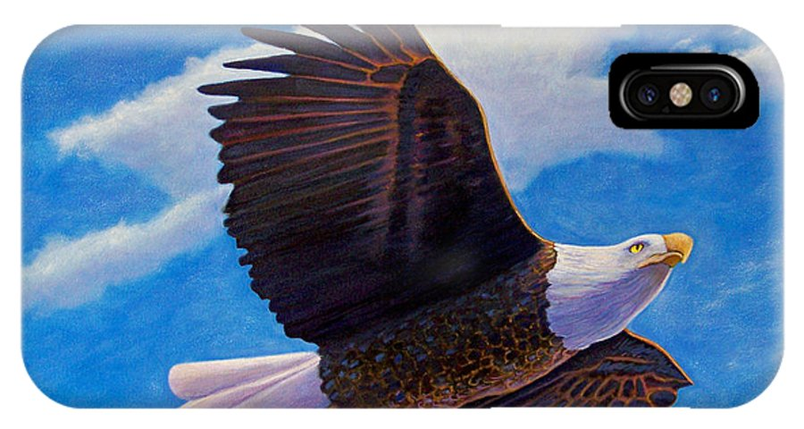 Eagle IPhone Case featuring the painting Eagle Heart II by Brian Commerford
