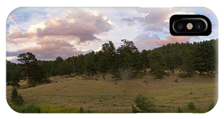 Eagle Roick IPhone X Case featuring the photograph Eagle Rock Estes Park Colorado by Heather Coen