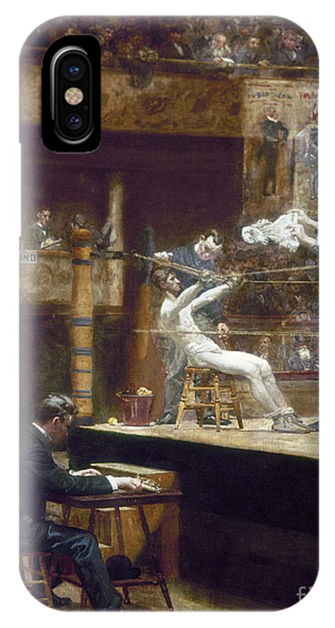1899 IPhone X Case featuring the photograph Eakins: Between Rounds by Granger