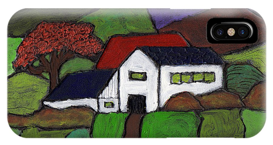 Farm IPhone X Case featuring the painting Early Autumn by Wayne Potrafka