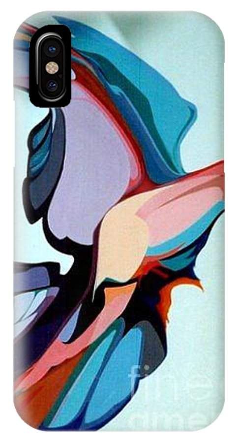Birds IPhone X Case featuring the painting Early Bird 10 by Marlene Burns