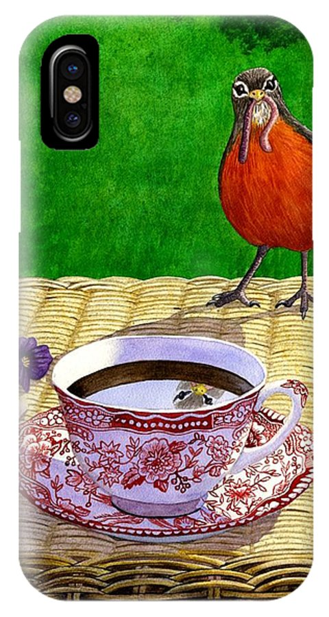 Robin IPhone Case featuring the painting Early Bird by Catherine G McElroy