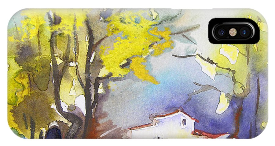 Watercolour IPhone X Case featuring the painting Early Morning 09 by Miki De Goodaboom