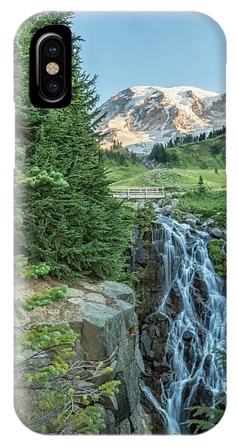 Mount IPhone X Case featuring the photograph Early Morning At Myrtle Falls by Belinda Greb