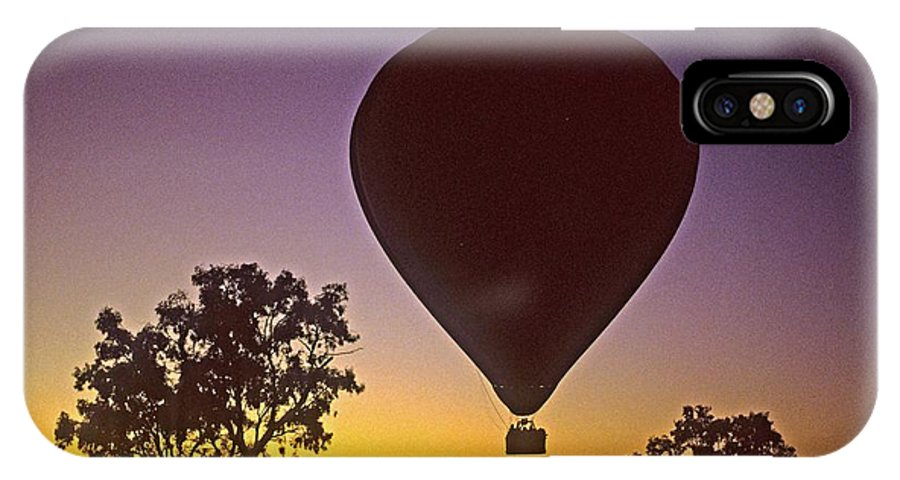 Balloon IPhone X Case featuring the photograph Early Morning Balloon Ride by Gary Wonning