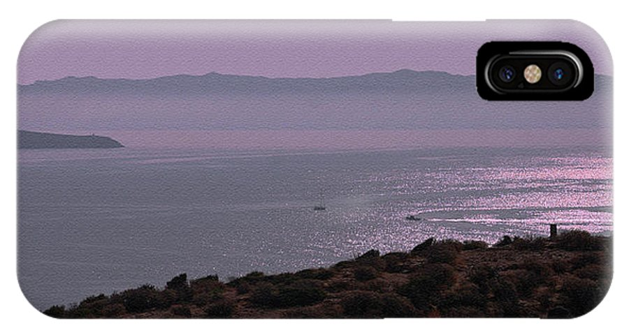 Greece IPhone X Case featuring the photograph Early Morning On Southern Greek Coast by Claudia O'Brien