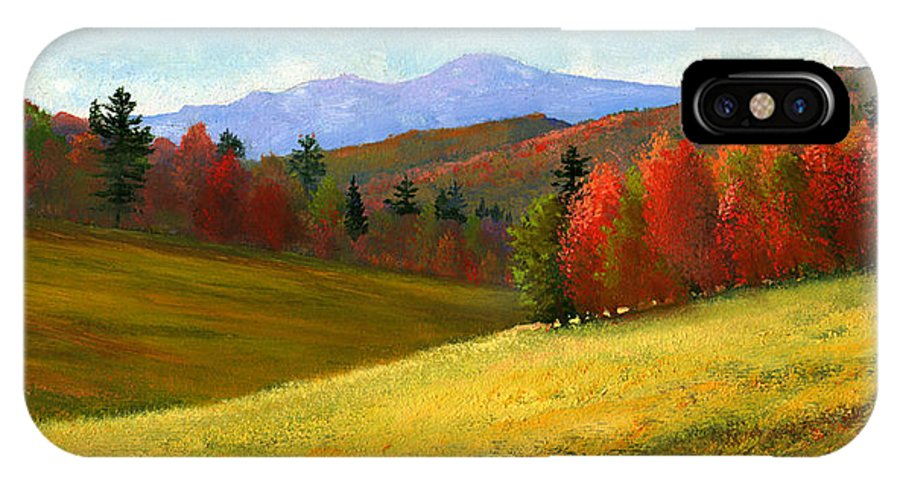 Landscape IPhone Case featuring the painting Early October by Frank Wilson
