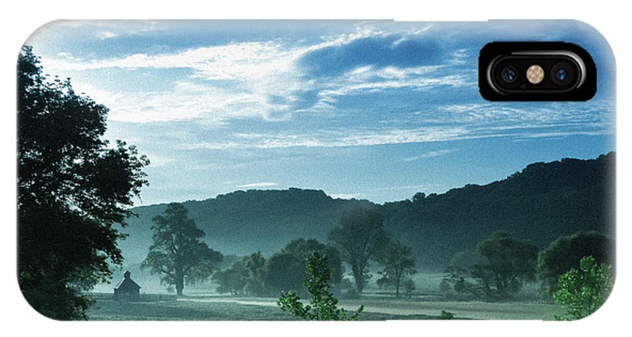 Landscape-morning Mist-sunrise IPhone X Case featuring the photograph Early Summer Morning by Allan Franklin