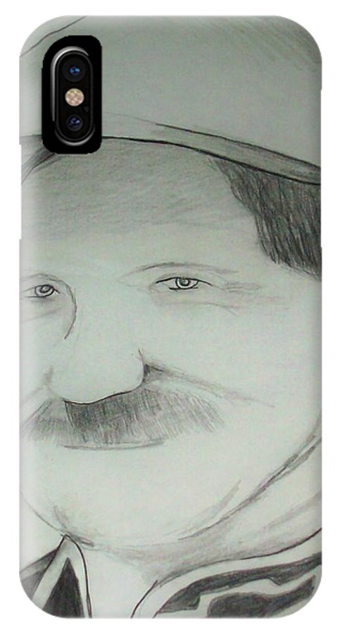 Racing IPhone Case featuring the drawing Earnhardt Sr by Crystal Webb
