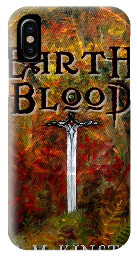 Cover Art IPhone X Case featuring the painting Earth Blood Cover Art by FT McKinstry