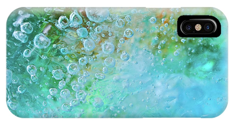 Abstract IPhone X Case featuring the photograph Earth Bubble by Shannon Workman