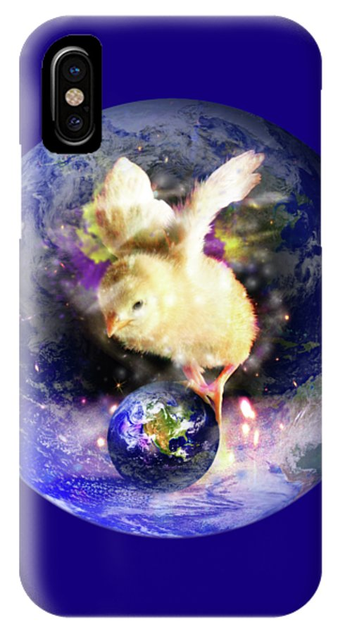 Chick IPhone X Case featuring the digital art Earth Chick by Gravityx9 Designs