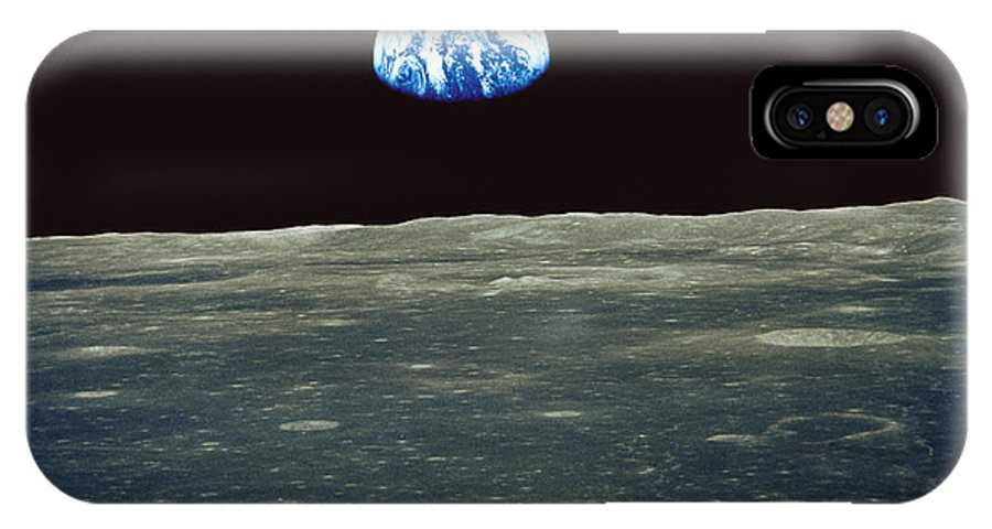 Earthrise IPhone X Case featuring the photograph Earthrise Photographed From Apollo 11 Spacecraft by Nasa