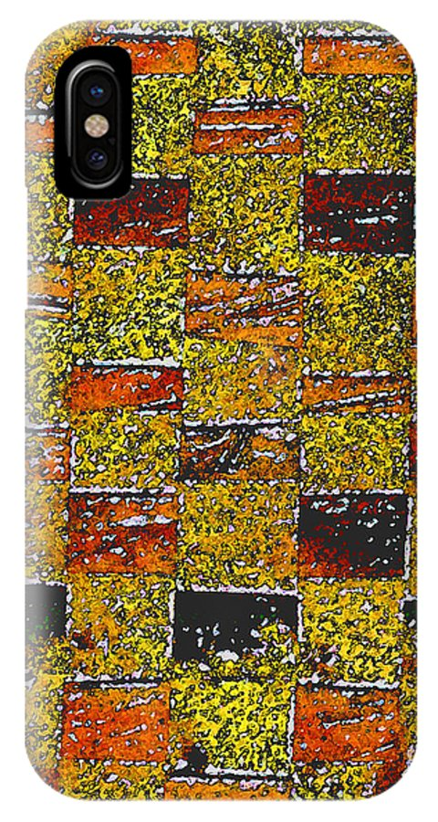 Weaving IPhone X Case featuring the painting Earths Tapestry by Wayne Potrafka