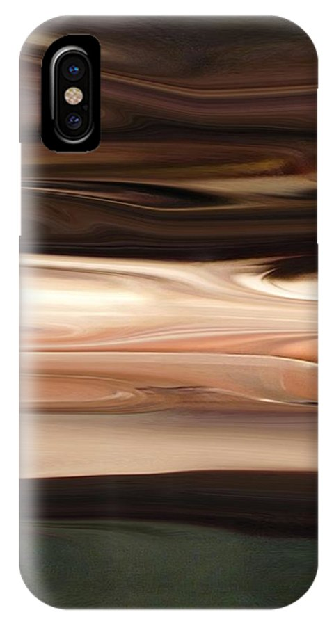 Abstract IPhone X Case featuring the digital art Earthy by Florene Welebny