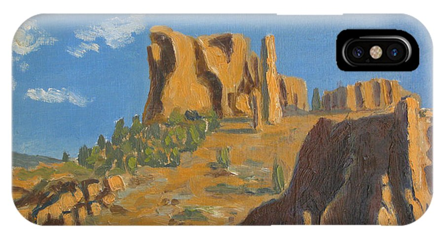 Mountains IPhone Case featuring the painting East Entrance To Yellowstone by D T LaVercombe