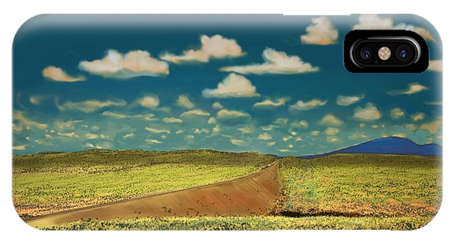 Flagstaff IPhone X Case featuring the digital art East Of Flagstaff Arizona by Kerry Beverly