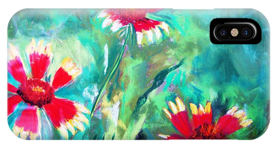 Flowers IPhone X Case featuring the painting East Texas Wild Flowers by Melinda Etzold