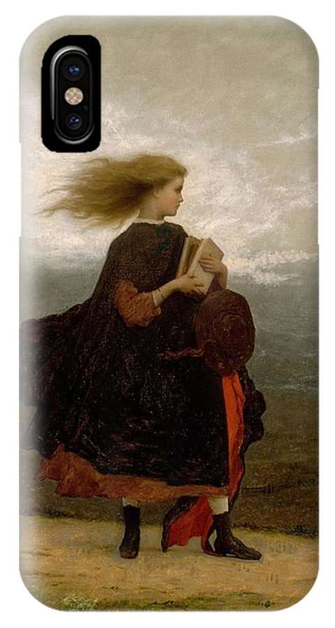 Girl IPhone X Case featuring the painting Eastman Johnson - The Girl I Left Behind Me by Eastman Johnson