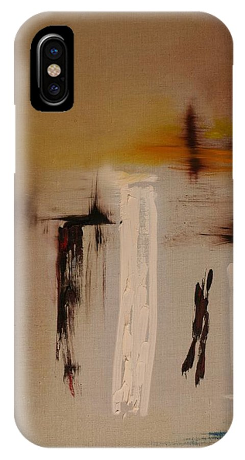 Art IPhone X Case featuring the painting Easy by Jack Diamond