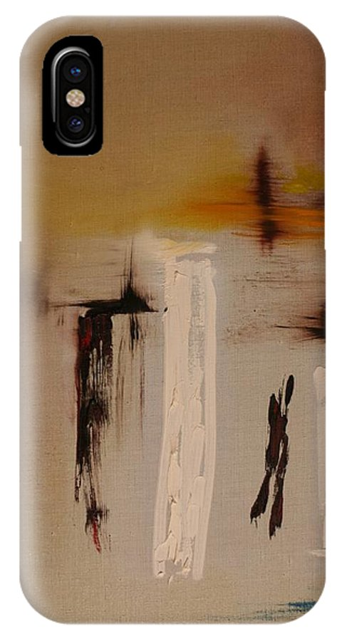 Abstract IPhone X Case featuring the painting Easy by Jack Diamond