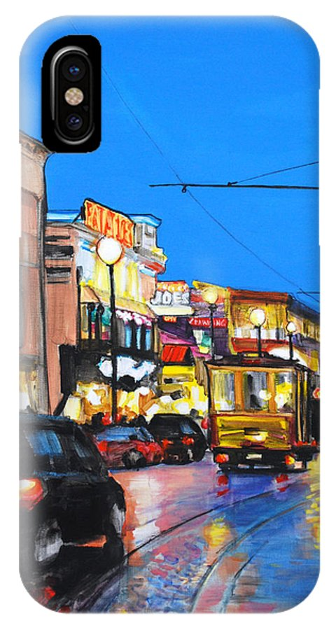 San Francisco IPhone X Case featuring the painting Eat At Joe's by Marianne Bland
