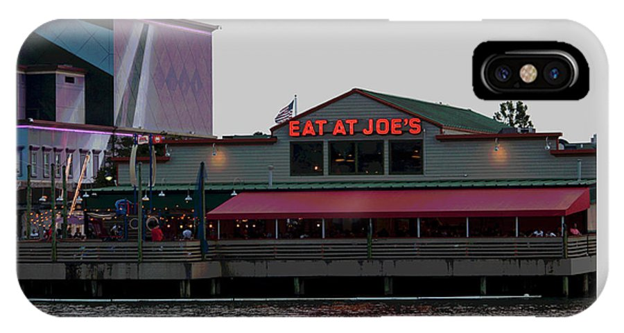Photograph IPhone X Case featuring the photograph Eat at Joes by Suzanne Gaff