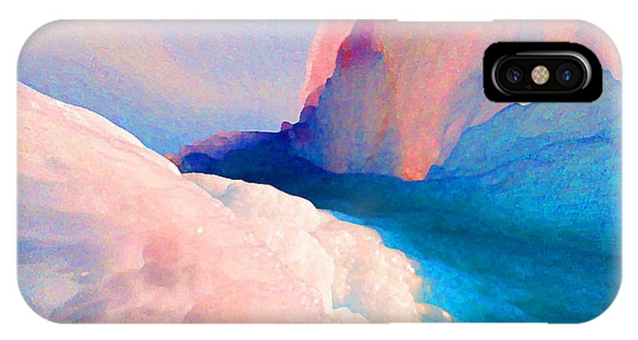 Abstract IPhone X Case featuring the photograph Ebb And Flow by Steve Karol
