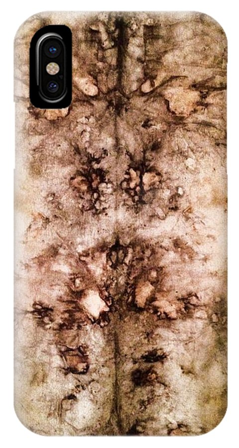 Www.pattishonek.com IPhone X Case featuring the painting Eco Dyed Tapestry On Cotton by Patti Shonek