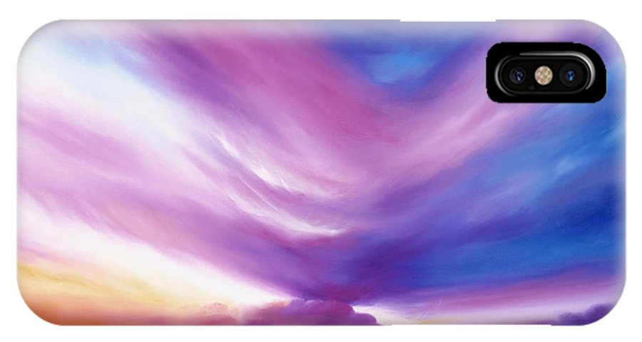 Clouds IPhone X Case featuring the painting Ecstacy by James Christopher Hill