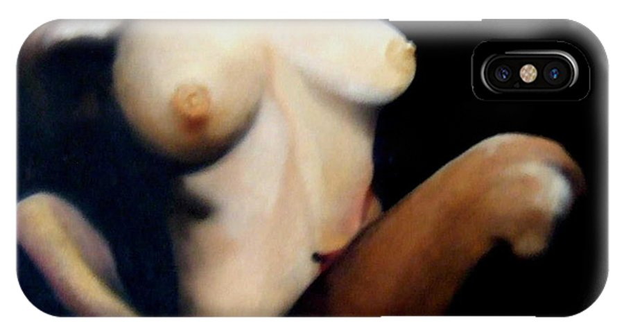 Figurative IPhone X Case featuring the painting Ecstasy by Jane Simpson