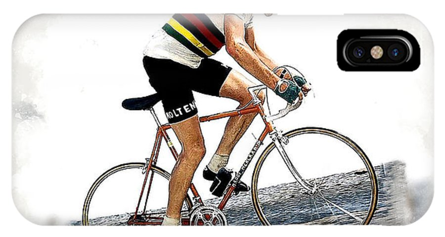 Eddie Merckx IPhone X Case featuring the digital art Eddie Merckx #2 by Karl Knox Images