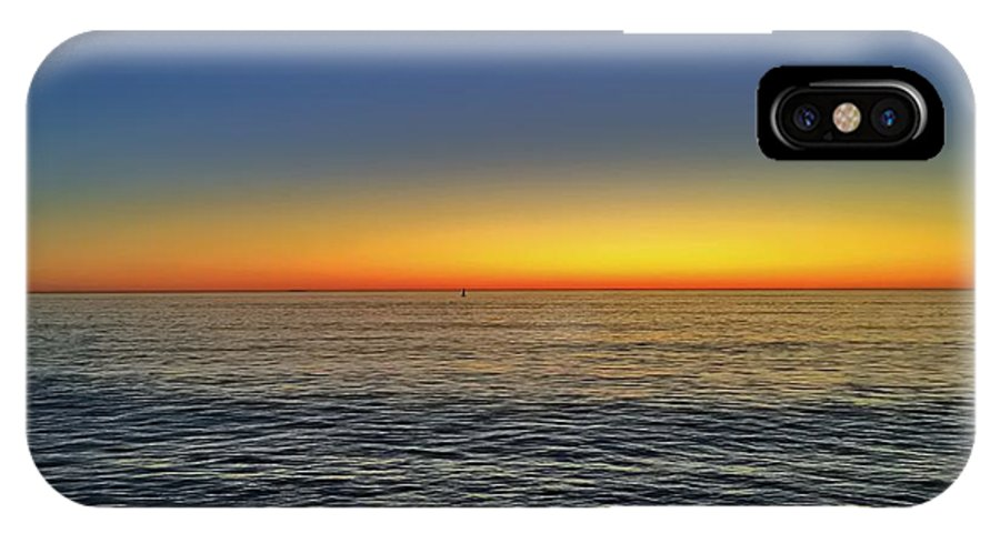 Ocean IPhone X Case featuring the photograph Edge Of Day by Michael Krugman