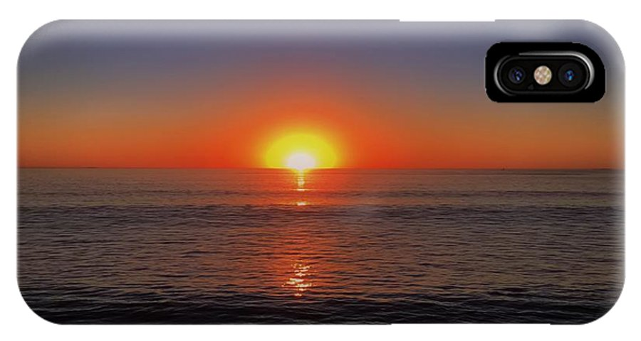 Ocean IPhone X Case featuring the photograph Edge Of Night by Michael Krugman